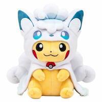 Pokemon Center Original Plush Doll Alolan Vulpix Poncho Pikachu from Japan F/S