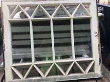 vintage c1900 mission Tudor window frame sash diamond pattern 28� w x 24� h 1.5�