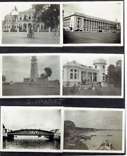 SIX OLD PHOTOGRAPHS SINGAPORE MALAYA VINTAGE ALBUM PAGE 1930S
