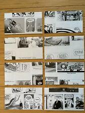 Cartoon Envelopes 4x6+ Paper Handmade Stationery 8 Pieces Lot