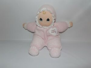 DISCONTINUED 1998 Precious Moments Blonde LOVE IS SHARING Doll PINK with BONNET