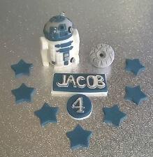 Star Wars R2D2 & Death Star edible handmade cake topper *Personalised*