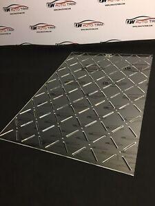 Car Upholstery / Trimming - stitch 80x100 diamond pattern template 3mm acrylic
