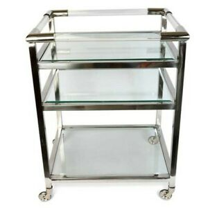 EX-DISPLAY - Modern Glass / Acrylic Drinks Trolley by Culinary Concepts