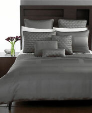 NEW 3pc Hotel Collection FRAME Nickel Grey Gray KING DUVET Cover KING Shams SET