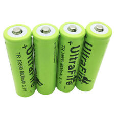 4X 18650 3.7V 8800mAh Li-ion Rechargeable Battery for Flashlight Torch Laser BRC