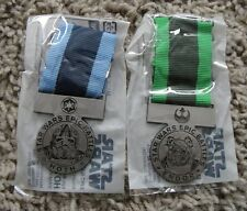 STAR WARS EPICS BATTLES HOTH AND ENDOR MEDAL LOT RARE NEW THE FORCE AWAKENS
