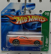 T HUNT TREASURE VIPER 2008 ORANGE SHORT CARD DODGE BOYS RED MOPAR HOT WHEELS HW