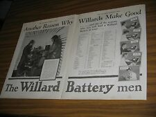 1928 Print Ad Willard Car Battery Batteries Being Tested in Cold Weather