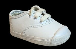 Keds Infant Toddler All Leather White Champion Sneakers Shoes Size 2 PG