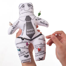 BAD BOSS Voodoo Doll Revenge Spell with 7 pcs Skull Pins Doll