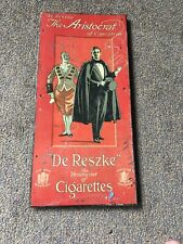 Original Vintage De Reszke The Aristocrat Of Cigarettes Metal Advertising Sign