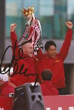 MAN UNITED: TOM CLEVERLEY SIGNED 6x4 PREMIER LEAGUE TROPHY PHOTO+COA