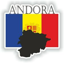 Sticker of Andora Decal for Bumper Travel Car Laptop Tablet Suitcase Hollidays