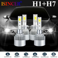 2X CREE H1+H7 LED Headlight 110W 280000LM Bulb Kit High/Low Beam Xenon 6000K HOT