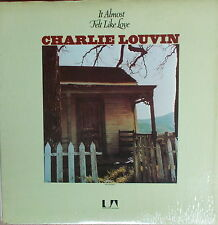 LP Charlie Louvin ‎– It Almost Felt Like Love,NEAR MINT ,cleaned,U A Records,USA