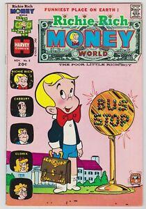 Richie Rich Money World #8 - Harvey File Copy Comic! 1973 VFNM