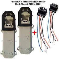Kit de Réparation Prise + Platine Porte Ampoules Feu Arriere pour Clio 2 Phase 2