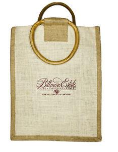 Biltmore Estate Winery Asheville NC Burlap Wine Bag Holds 2 Bottles