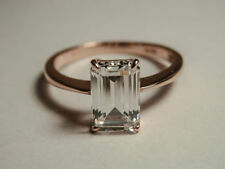 Simulated Diamond Solitaire Rose Gold 18k Engagement Rings