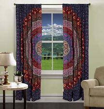 Indische Mandala Wand Tapisserie Dekorative Tür Fenster Vorhänge Vorhang Set