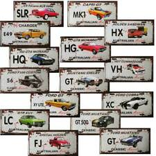 Car Tin Signs Ford Holden Aussie Muscle License Plate Gift Bar Man Cave Shed