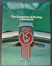 1972 Kenworth Truck Brochure Folder W-900 K-100 Excellent Original 72