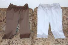 2 Pairs of Chaus Women Size 12 Capri Cropped  Pants