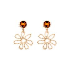 Earrings Fashion Resin Dangle Earring Flower Metal Ear Jewelry Womens Day Gifts