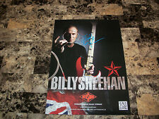 Billy Sheehan Signed Rotosound Poster Winery Dogs Mr. Big David Lee Roth Talas