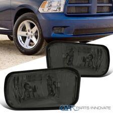 For 09-12 Dodge Ram 1500 2500 Pickup Smoke Front Fog Lights Driving Bumper Lamps