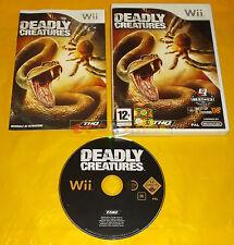 DEADLY CREATURES Nintendo Wii Versione Italiana 1ª Edizione ○○ USATO - BN
