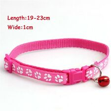 Nylon With Bell Cat Buckle Collars Dog Reflective Collar Pet Pink