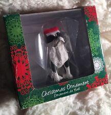 Sandicast Boston Terrier, Sitting Christmas Ornament Item Xso19305