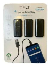 TYLT 5200mAh Power Bank Portable Charger External Battery Pack w Light SEALED
