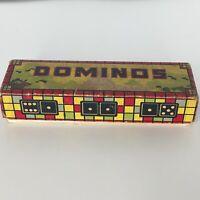 Hal-Sam Wooden Dominos Family Game Vintage DC Capitol Building 28 Dominoes Set