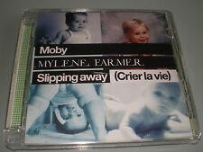 CD MAXI SINGLE SUPER JEWEL CASE MYLENE FARMER & MOBY SLIPPING AWAY COMME NEUF