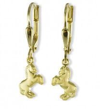 🐎 ECHT GOLD *** Pferd Kinder Damen Ohrhänger Ohrringe matt