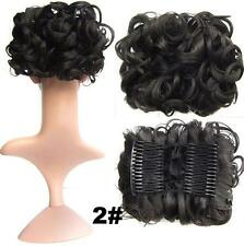 Short Messy Curly Dish Hair Bun Extension Easy Stretch hair Combs Clip in