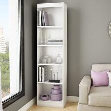 "White 71"" Vertical Slim 5 Shelf  Bookcase Home Office Living Storage Furniture"