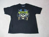 Guns N Roses Concert Shirt Adult 2XL XXL Black Rock Band Tour Rocker Music Mens