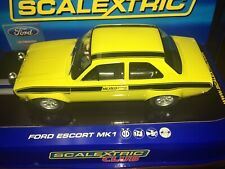 SCALEXTRIC C2966 FORD ESCORT RS 1600 MEXICO DAYTONA YELLOW SPECIAL Slot Car NEW!