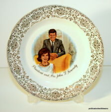 Vintage President and Mrs John F Kennedy Plate