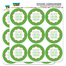 """Do Not Open Until Christmas 2"""" Scrapbooking Crafting Stickers"""