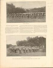 Imperial Russian Army Bike Vélo Cycliste Russia FRANCE GRAVURE OLD PRINT 1897