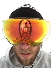 Snowboard Ski Goggles Frameless red lenti specchiate da uomo Anon