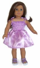 "Lavender Satin Sun Dress made for 18"" American Girl Doll Clothes"