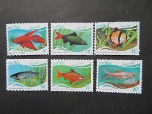 1987 Vietnam Fishes Set SG1111-7 Fine Used
