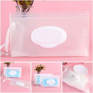 Easy-carry Napkin Storage Pouch Mask Case Cosmetic Container Wet Wipes Bag