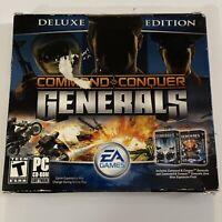 PC COMMAND & CONQUER Generals DELUXE ED + Zero Hour RTS PC CD-ROM Please Read!